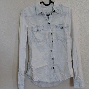 H&M Chambray Shirt Light Wash